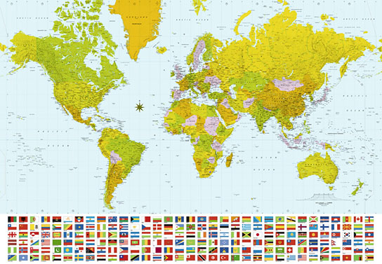 Fototapeten - Map of the World